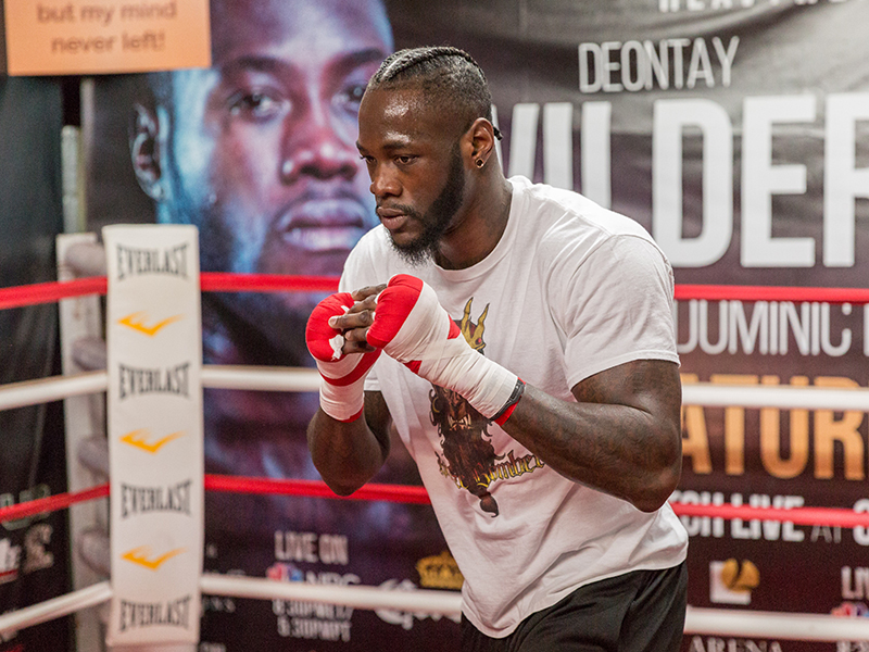 Deontay Wilder vs. Gerald Washington PBC on FOX & FOX Deportes Fight Week Media Workout Quotes & Photos