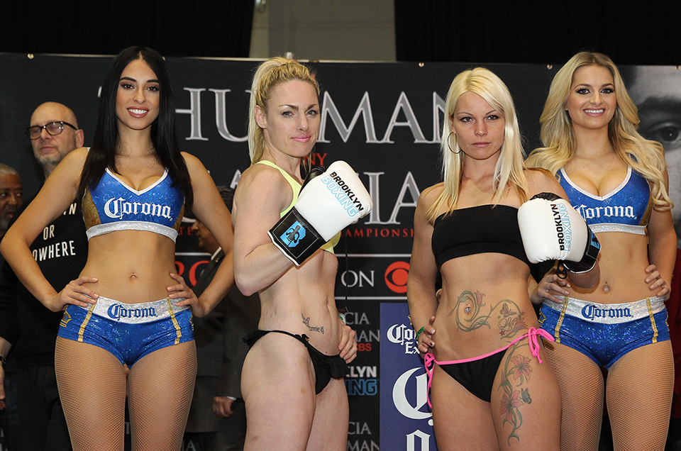 WEIGH-IN RESULTS FOR TOMORROW'S  BROADWAY BOXING CARD