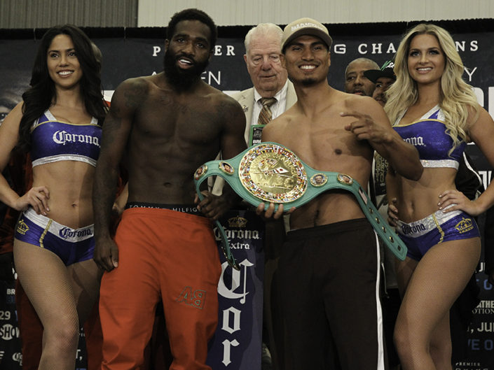 Adrien Broner vs. Mikey Garcia Weigh-In Photos