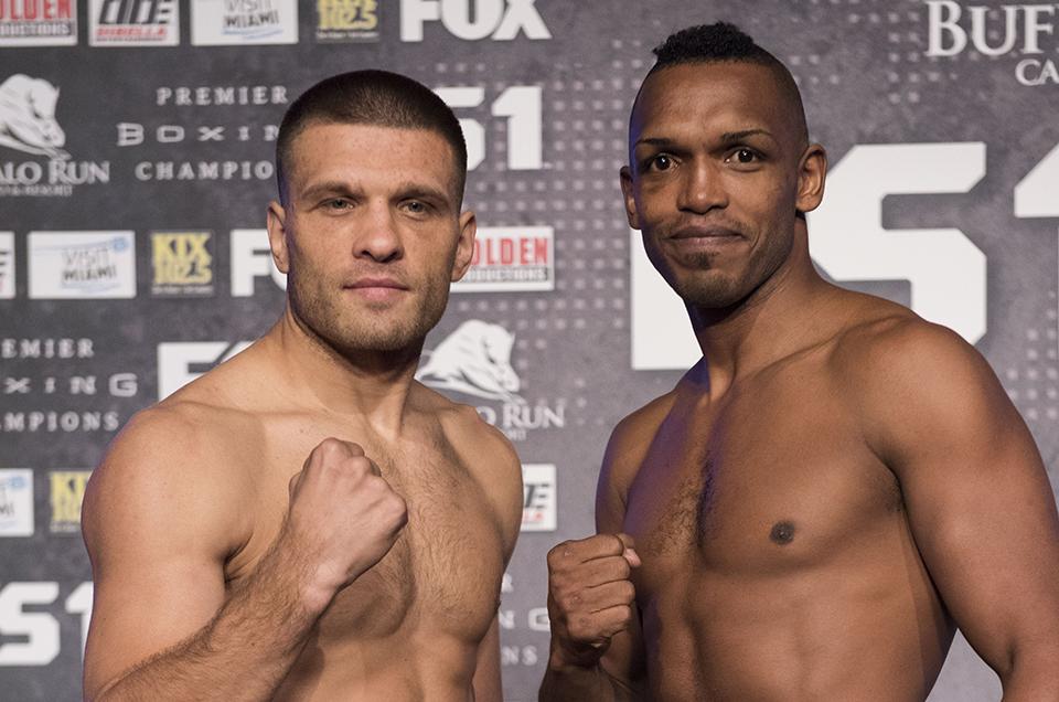 Sergiy Derevyanchenko vs. Tureano Johnson: PBC on FS1 & FOX Deportes Official Weights & Weigh-In Photos