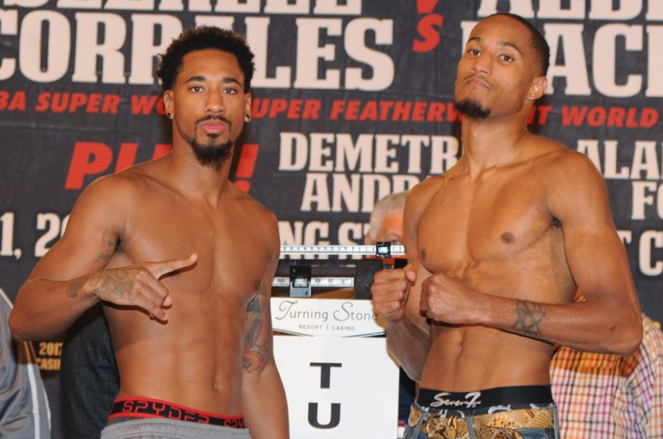Demetrius Andrade battles Alantez Fox on Saturday, October 21 from Turning Stone Resort Casino in Verona, New York