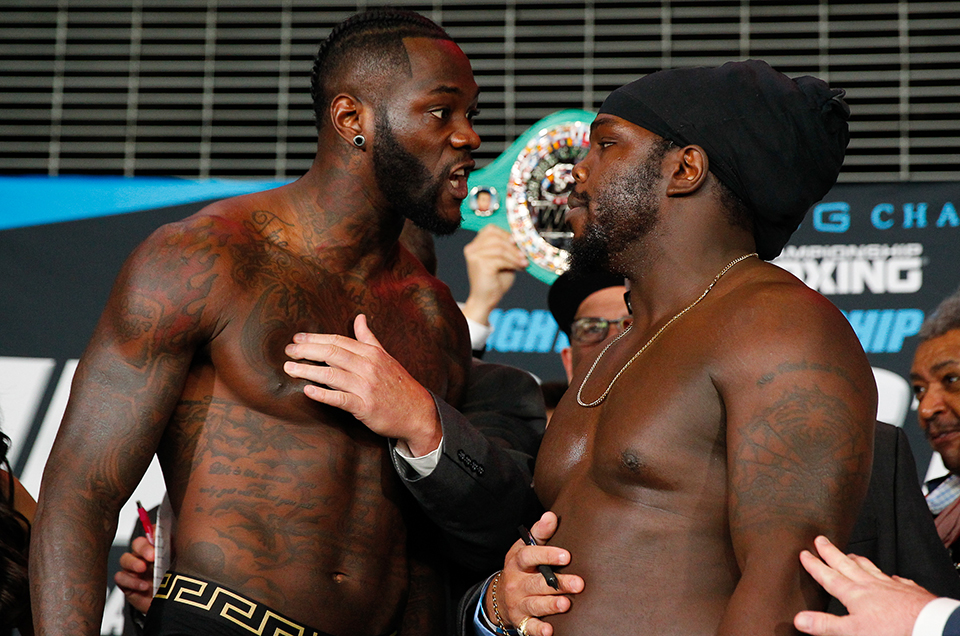 Deontay Wilder vs. Bermane Stiverne Official Weights & Weigh-In Photos