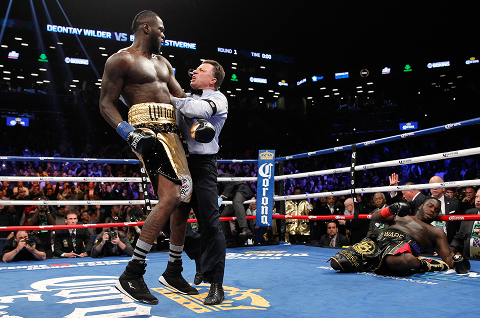 DEONTAY WILDER RETAINS WBC HEAVYWEIGHT TITLE WITH DEVASTATING FIRST-ROUND KNOCKOUT OF BERMANE STIVERNE
