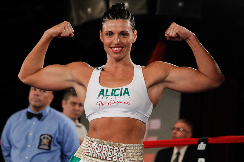 CONGRESSMAN PETE KING LAUDS WORLD CHAMPION ALICIA NAPOLEON UPON VICTORY AT DIBELLA ENTERTAINMENT'S BROADWAY BOXING EVENT
