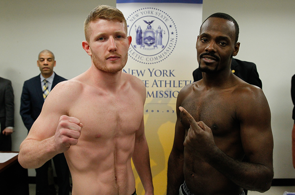 WEIGH-IN RESULTS FOR TOMORROW'S BROADWAY BOXING CARD AT BB KING BLUES CLUB & GRILL, IN TIMES SQUARE, NEW YORK CITY