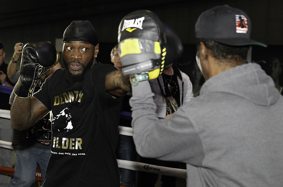 Deontay Wilder vs. Luis Ortiz Media Workout Quotes & Photos
