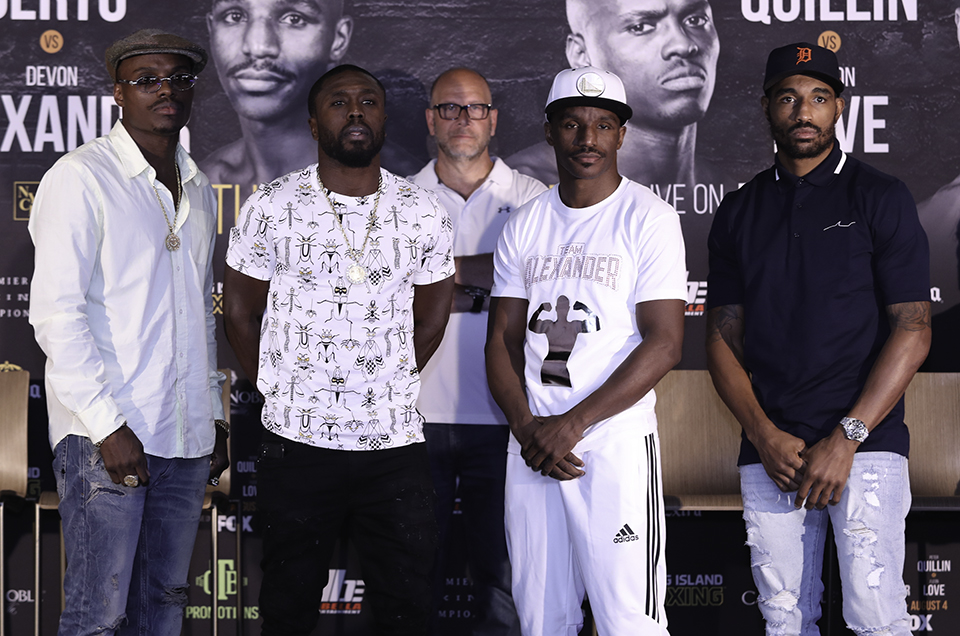 Andre Berto vs. Devon Alexander & Peter Quillin vs. J'Leon Love Final Press Conference Quotes & Photos