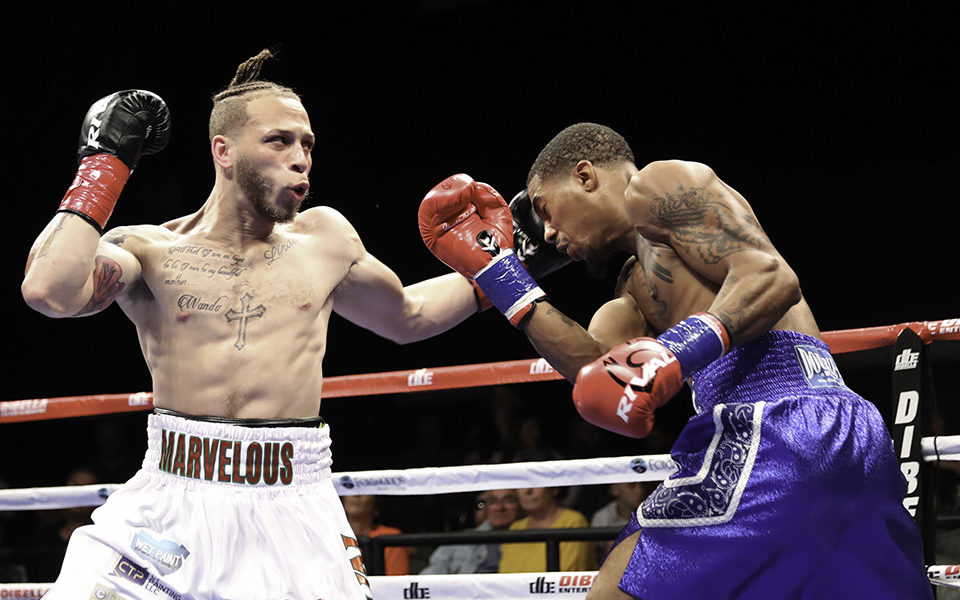 MYKQUAN WILLIAMS DOMINATES RICKEY EDWARDS TO CAPTURE WBC USNBC SUPER LIGHTWEIGHT TITLE