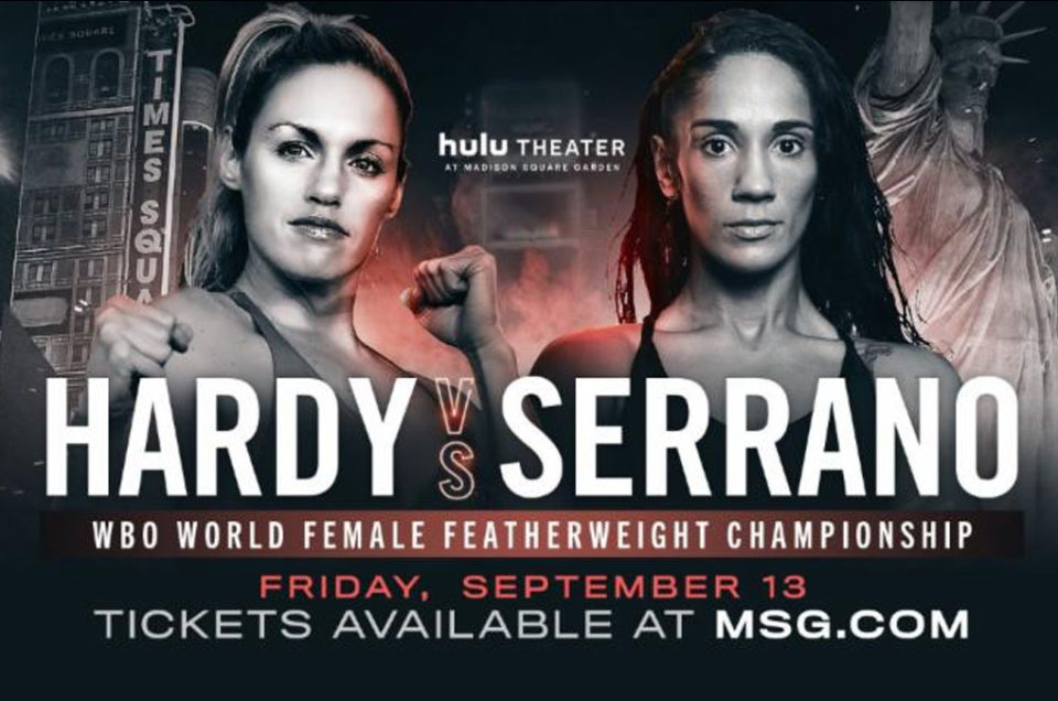 "HEATHER HARDY AND AMANDA SERRANO VIE TO BECOME ""QUEEN OF BROOKLYN"" IN THEIR FEATHERWEIGHT WORLD CHAMPIONSHIP   THIS FRIDAY, SEPTEMBER 13,   AT HULU THEATER AT MADISON SQUARE GARDEN"